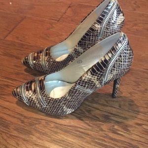 New Faux Snakeskin Heels